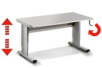 Winding Height Adjustable Standing DesksSit-Stand Desks & Tables