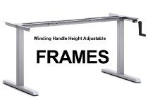 Winding Handle Standing DeskHeight Adjustable Frames