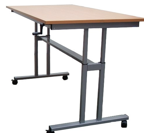 height adjustable table winding handle standing desk. Black Bedroom Furniture Sets. Home Design Ideas