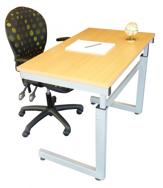 Height Adjustable Desk | Winding Handle | School Desk | 600mm deep