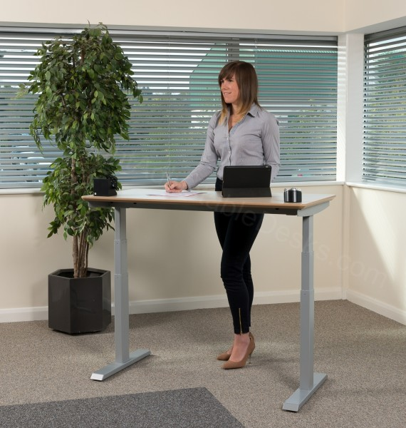 Silver | LINAK | Standing Desk | Sit-Stand | British Made
