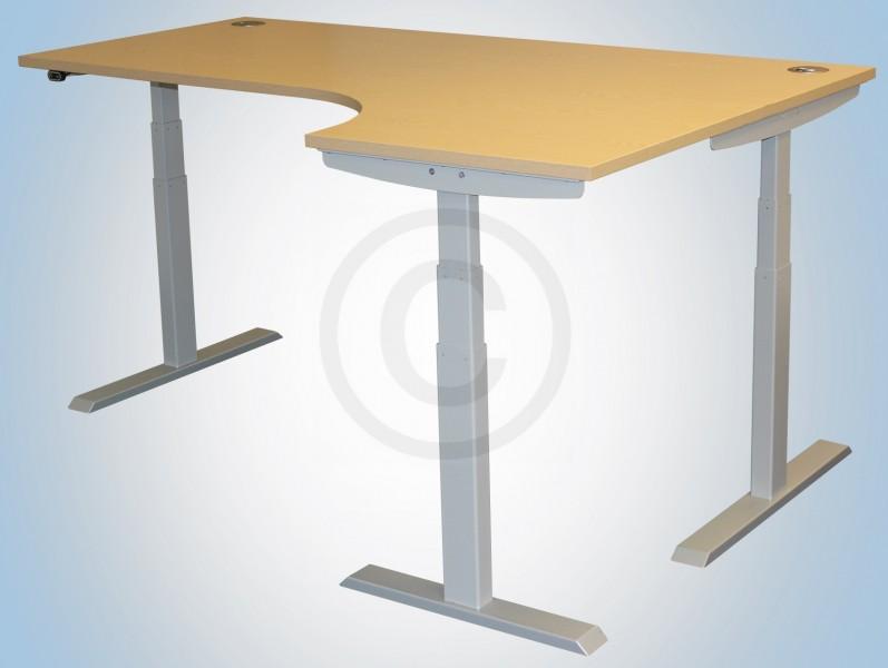 Standing Desk Frame 3 Legged Corner Style Height Adjustable