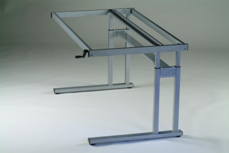 height adjustable desk frames winding handle standing desk frames made in the uk