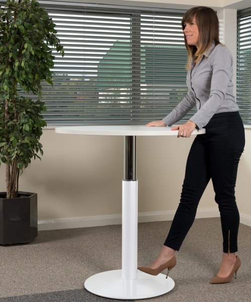 Height Adjustable | Standing Table | Round Top 900mm 1000mm | Free UK Delivery