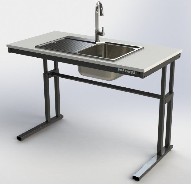 Height Adjustable Sink Frames | Electric | Wheelchair ...